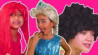 PRINCESSES GET READY FOR PROM | Magic Pranks | Hair Disaster | Princesses In Real Life | Kiddyzuzaa