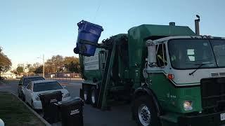 Calmet services trash truck #130 Autocar Asl part 3