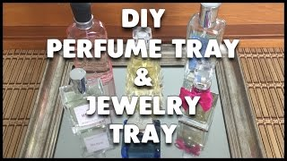 DIY Perfume Tray and Jewelry Tray | Using Mirror-Like Paint!