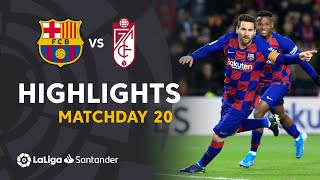 Highlights FC Barcelona vs Granada CF (1-0)