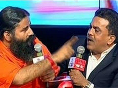 Agenda Aaj Tak: Ramdev, Nirupam lock horns over black money