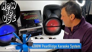 Karaoke System Perfect, 4300W Speakers, Amplifier, BEST Microphones! with 1,300 songs! #HowToUse