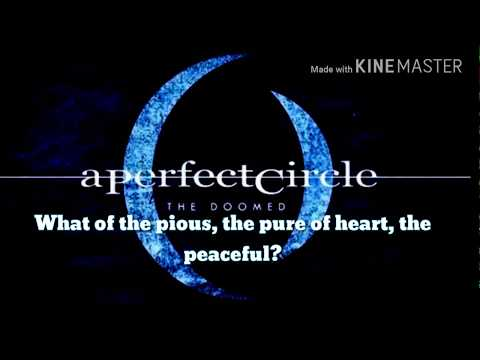 A Perfect Circle- The Doomed Lyrics
