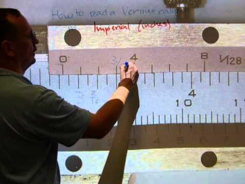 Vernier caliper inches