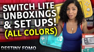 Nintendo Switch lite unboxing and setup all colors