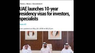 Good News UAE || 10-Year Residence Visa || New Rule 2018