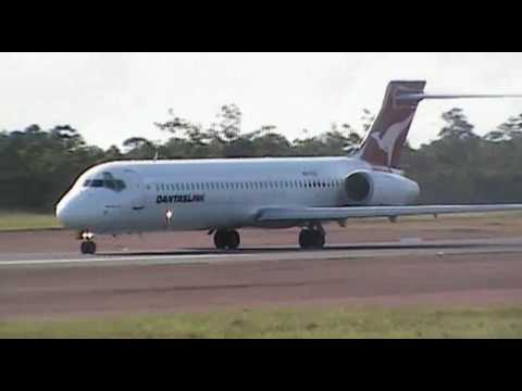 QANTASLink and Airnorth morning arrivals and departures from Gove Airport, Nhulunbuy, Northern Territory, Australia. It was an extremely hot and humid mornin...