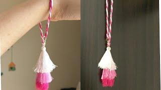 DIY bracelet/silk thread tassel bracelet/jewellery making/simple and easy bracelet