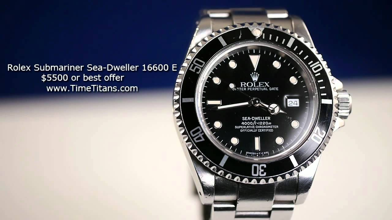Rolex Sea Dweller 16600 Replica Rolex Submariner Sea-dweller