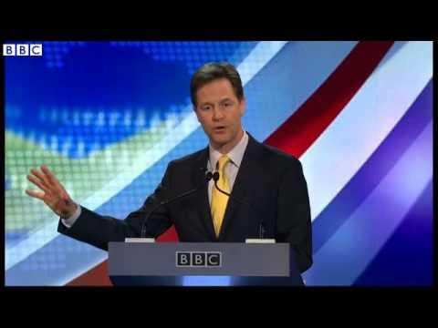 Farage v Clegg On EU - Clegg Attacks Farage on Putin  03/04/2014