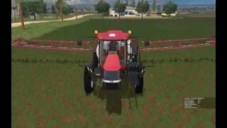 Farming Simulator 2015:  Spraying Herbicide with Case 4440 Patriot