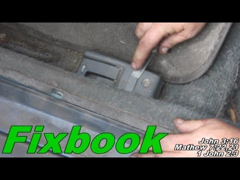 "Trunk Gas Door Pop Lever Cable Remove ""How to"" Honda Civic ..."