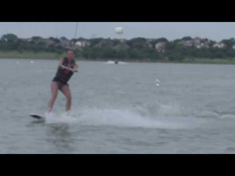 Rachel Starr learning to wakeboard Video