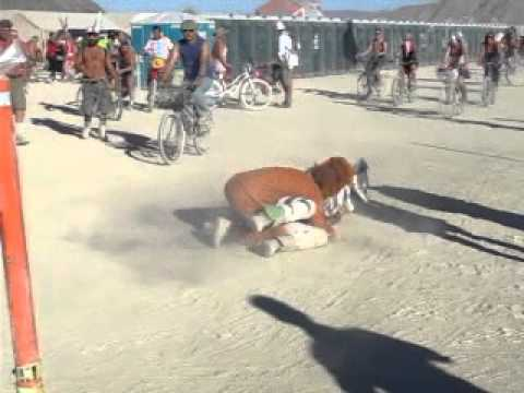 Burning Man 2011 - Lion Attacks Zebra video