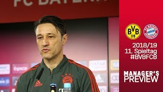 FC Bayern Press Conference w/ Niko Kovac ahead of Borussia Dortmund
