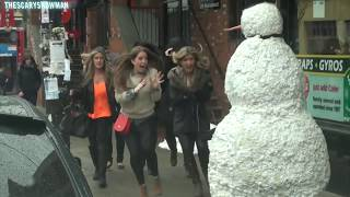 Funny Snowman Prank - I'm Melting - Season 3 Episode 11