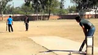 Sarmad tape ball cricket batting in Sargodha