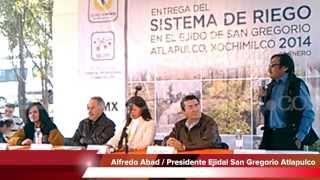 Inauguran sistema de riego en Xochimilco