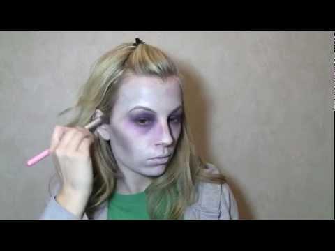 basic zombie/dead girl beginner makeup  youtube