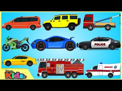 Learning Street Vehicles | Cars and Trucks for Kids | Videos for Children | Little Kids TV
