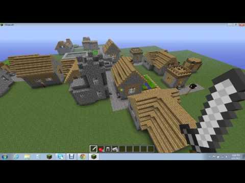 Minecraft Secret NPC Village Chest and Iron Golems