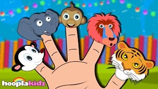 Learn Animals with Finger Family Song | Nursery Rhymes Collection by HooplaKidz