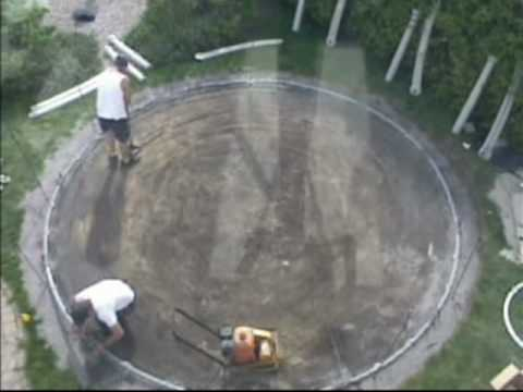 Above ground pool installation (Time Lapse)