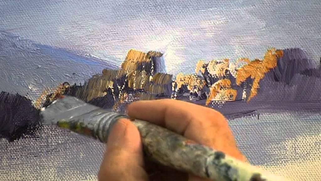 How To Paint An Australian Gum Tree Youtube