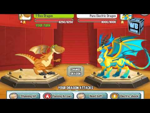 Dragon City Mobile: T-Rex Dragon [BATTLE]