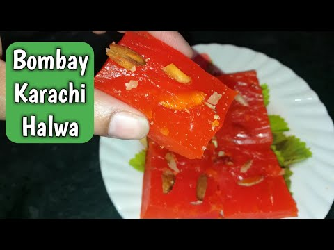 Karachi Halwa Recipe | Bombay Karachi Halwa | How To Make Corn Flour Halwa