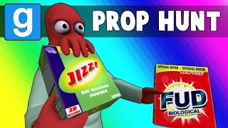 Gmod Prop Hunt Funny Moments - Death By Jizz! (Garry
