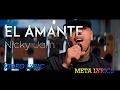 Nicky Jam   El Amante (Letra)