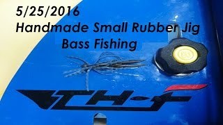 釣れっ釣れの片倉ダム2016年5月バス釣り - Japanese Bass Fishing (Small Rubber Jig was made by myself)