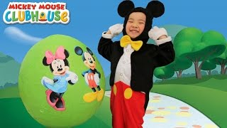 Disney Mickey Mouse Clubhouse Giant Surprise Egg Toys Opening Minnie Goofy Donald Daisy CKN Toys