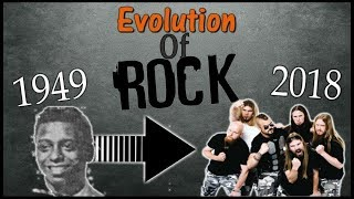 Evolution of Rock - 1949 to 2018