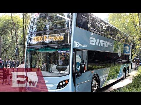 Realizan pruebas de autobuses de doble piso para incorporar al Metrobús/ Comunidad