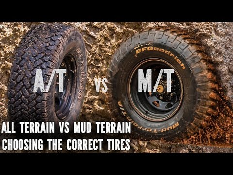 All Terrain vs Mud Terrain. best tyres