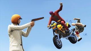 1 SHOT 2 KILLS! (GTA 5 Funny Moments)