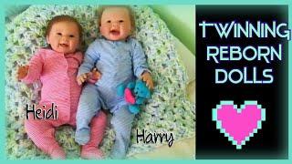 Reborn 'twinning' babies + Happy Mail *Heidi & Harry*