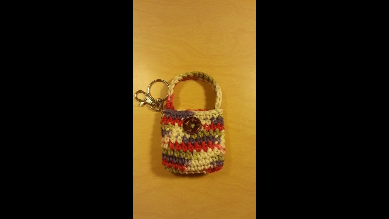 Crochet Bags And Purses Tutorial : Crochet small coin purse #TUTORIAL Idea for Crochet purse Crochet ...