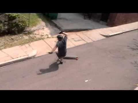 Longboarder hits head