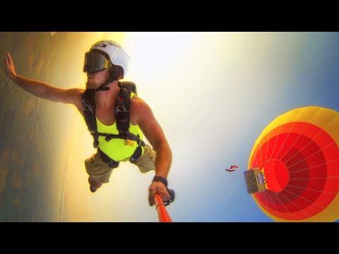 Hot Air Balloon Skydive!
