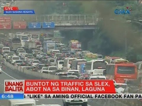UB: Buntot ng traffic sa SLEX, abot na sa Biñan, Laguna
