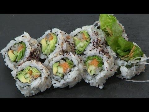 Video Receta: Como preparar Maki vegetariano.  Cocina japonesa