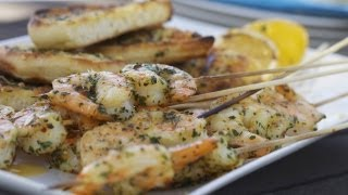 Grilled Shrimp Skewers Recipe: The Ultimate Memorial Day Menu || KIN EATS