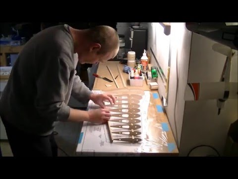 P-51 Mustang rc build of a great planes kit part2, wing ep5