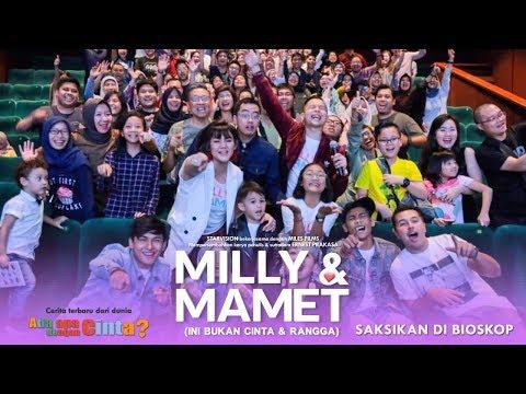 download lagu MILLY & MAMET (Ini Bukan Cinta & Rangga) - Nobar Di Gading XXI gratis