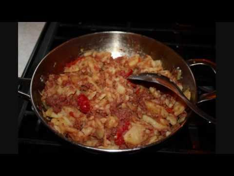 Fry Aloo With Corned Beef – Trinidad Recipes.