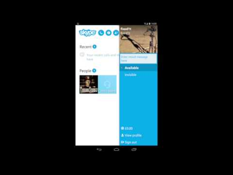 Deleting Recent Skype Conversations On An Android Tablet - Nexus 7 Example