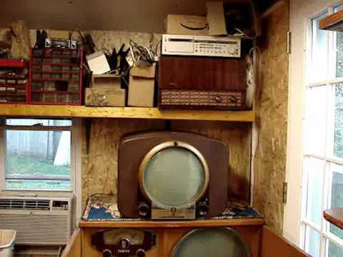 Electronics work shop and ham radio desk PT3